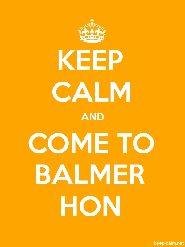 KEEP CALM AND COME TO BALMER HON - white/orange - Default (600x800)