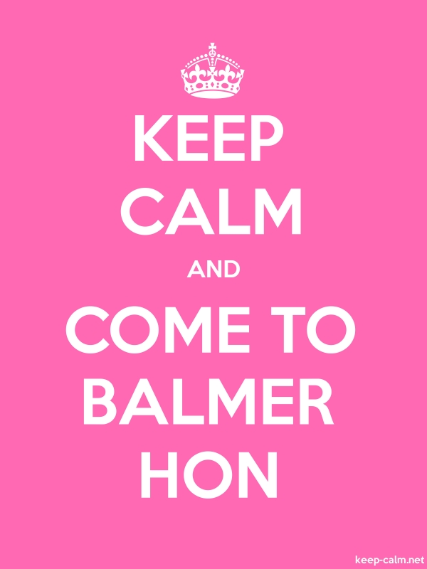 KEEP CALM AND COME TO BALMER HON - white/pink - Default (600x800)