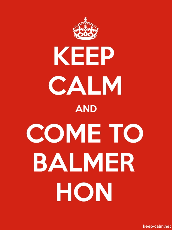KEEP CALM AND COME TO BALMER HON - white/red - Default (600x800)