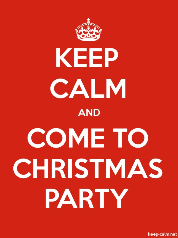 KEEP CALM AND COME TO CHRISTMAS PARTY - white/red - Default (600x800)