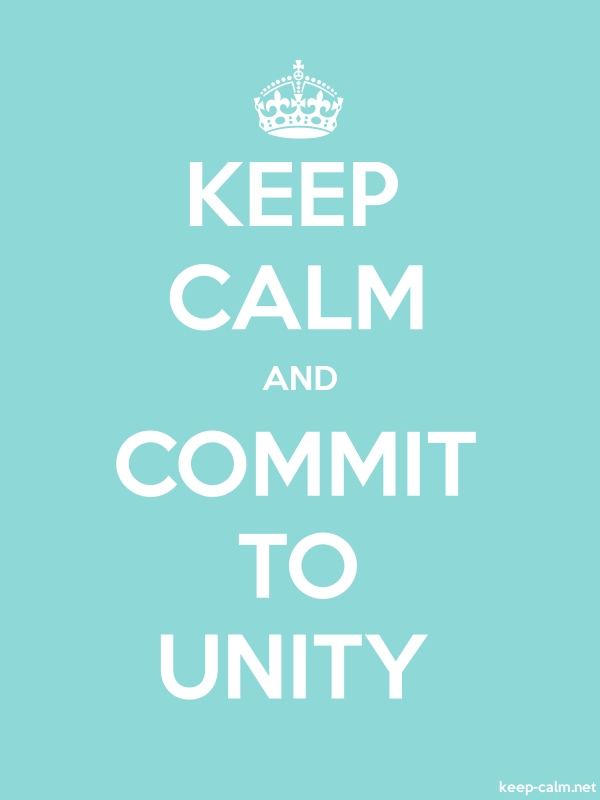 KEEP CALM AND COMMIT TO UNITY - white/lightblue - Default (600x800)