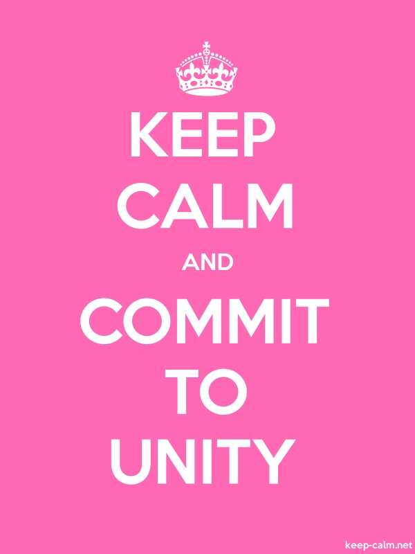 KEEP CALM AND COMMIT TO UNITY - white/pink - Default (600x800)