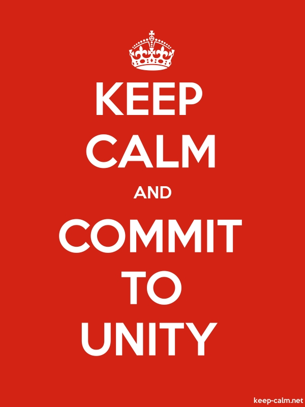 KEEP CALM AND COMMIT TO UNITY - white/red - Default (600x800)