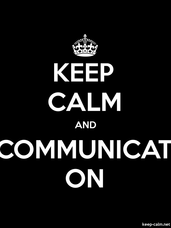 KEEP CALM AND COMMUNICAT ON - white/black - Default (600x800)