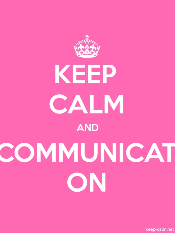 KEEP CALM AND COMMUNICAT ON - white/pink - Default (600x800)