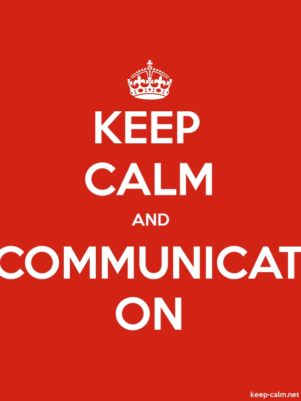 KEEP CALM AND COMMUNICAT ON - white/red - Default (600x800)