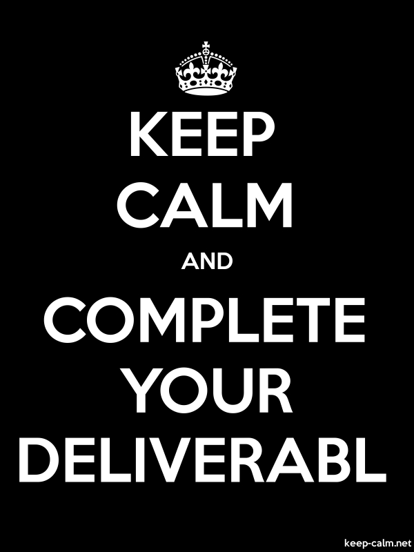 KEEP CALM AND COMPLETE YOUR DELIVERABL - white/black - Default (600x800)