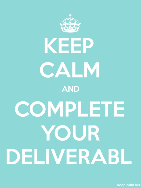 KEEP CALM AND COMPLETE YOUR DELIVERABL - white/lightblue - Default (600x800)