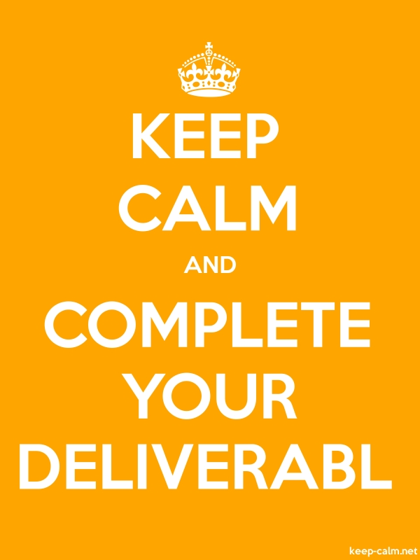 KEEP CALM AND COMPLETE YOUR DELIVERABL - white/orange - Default (600x800)