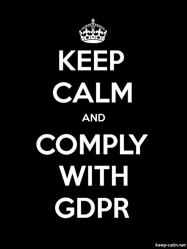 KEEP CALM AND COMPLY WITH GDPR - white/black - Default (600x800)