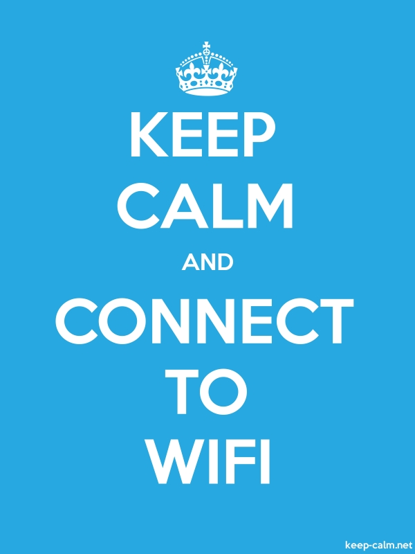 KEEP CALM AND CONNECT TO WIFI - white/blue - Default (600x800)
