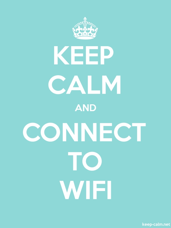KEEP CALM AND CONNECT TO WIFI - white/lightblue - Default (600x800)