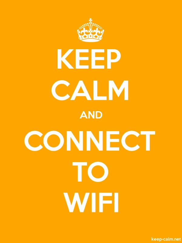 KEEP CALM AND CONNECT TO WIFI - white/orange - Default (600x800)