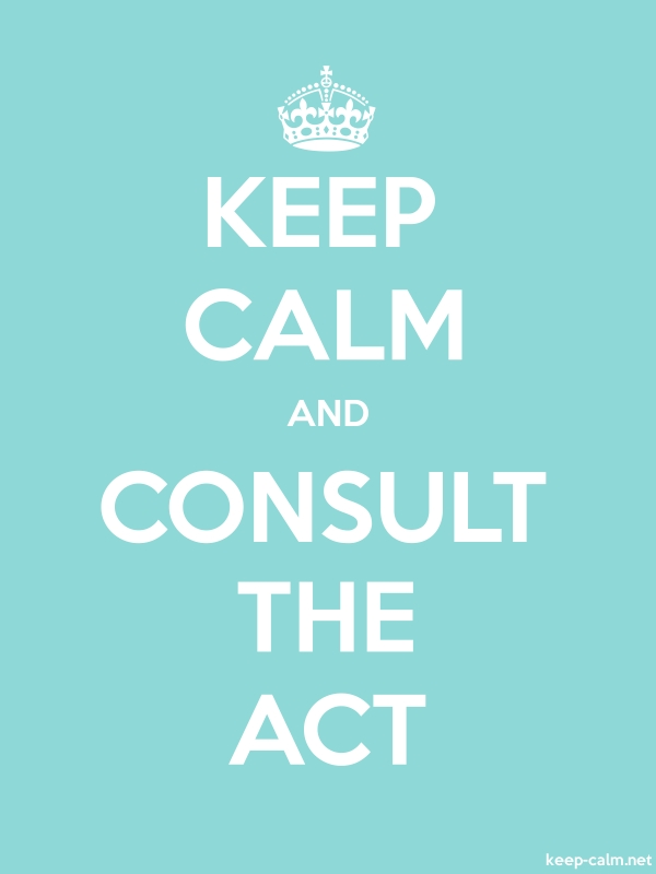 KEEP CALM AND CONSULT THE ACT - white/lightblue - Default (600x800)