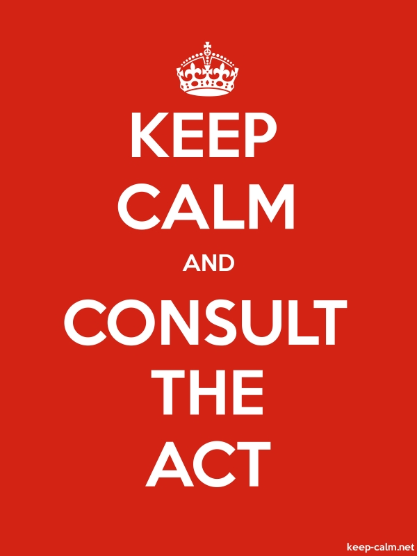 KEEP CALM AND CONSULT THE ACT - white/red - Default (600x800)