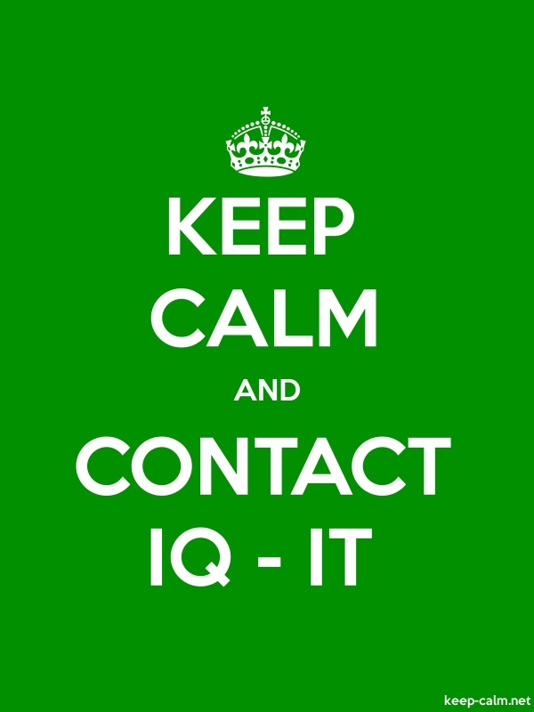 KEEP CALM AND CONTACT IQ - IT - white/green - Default (600x800)