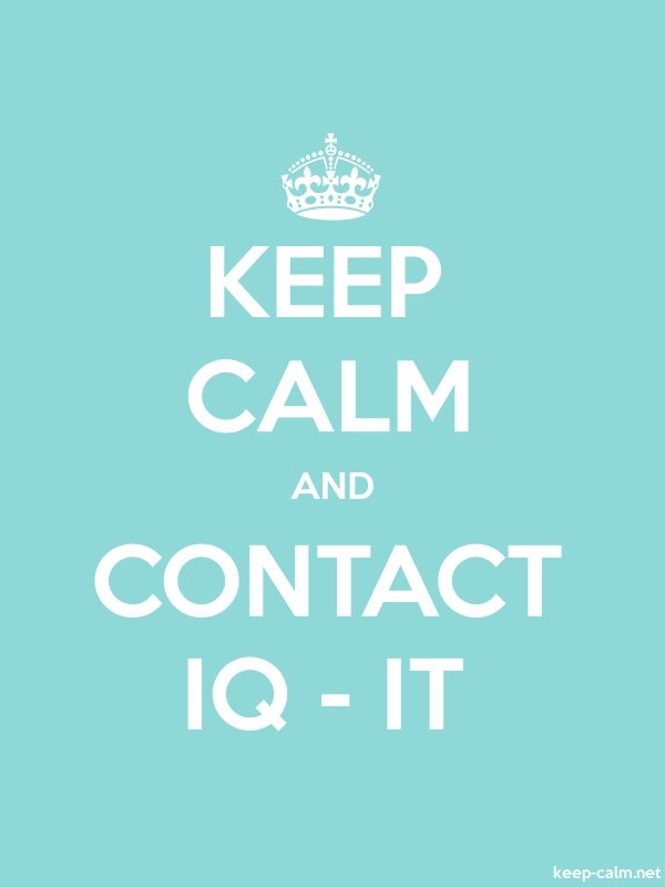 KEEP CALM AND CONTACT IQ - IT - white/lightblue - Default (600x800)