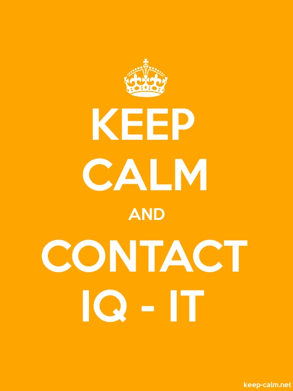 KEEP CALM AND CONTACT IQ - IT - white/orange - Default (600x800)
