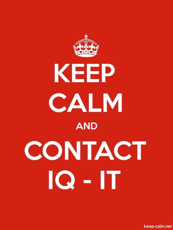 KEEP CALM AND CONTACT IQ - IT - white/red - Default (600x800)