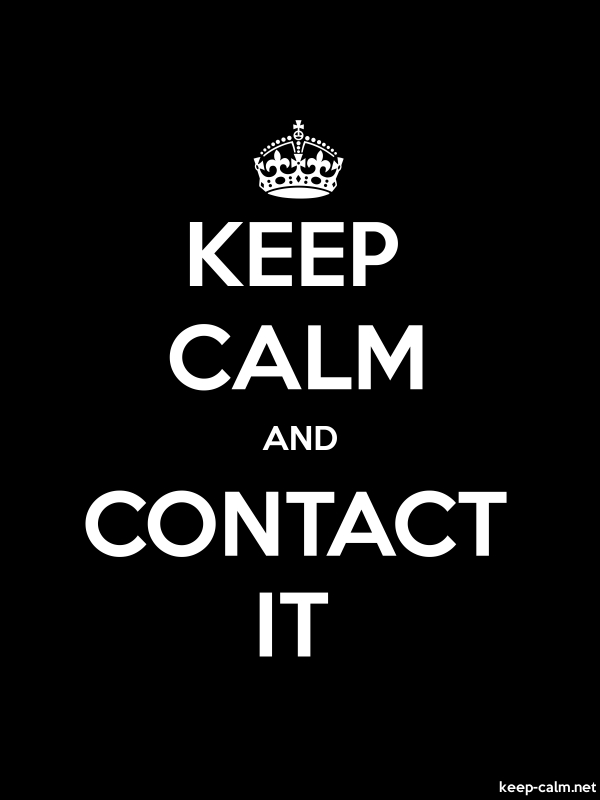 KEEP CALM AND CONTACT IT - white/black - Default (600x800)