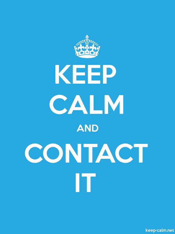 KEEP CALM AND CONTACT IT - white/blue - Default (600x800)