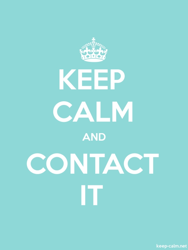 KEEP CALM AND CONTACT IT - white/lightblue - Default (600x800)