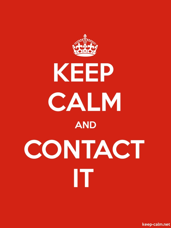 KEEP CALM AND CONTACT IT - white/red - Default (600x800)