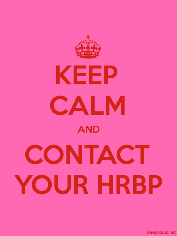 KEEP CALM AND CONTACT YOUR HRBP - red/pink - Default (600x800)