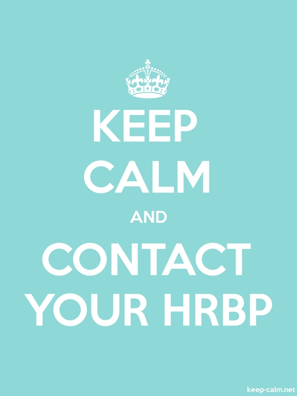 KEEP CALM AND CONTACT YOUR HRBP - white/lightblue - Default (600x800)