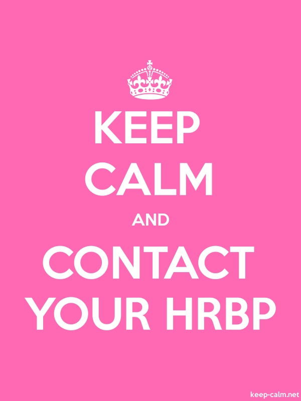 KEEP CALM AND CONTACT YOUR HRBP - white/pink - Default (600x800)