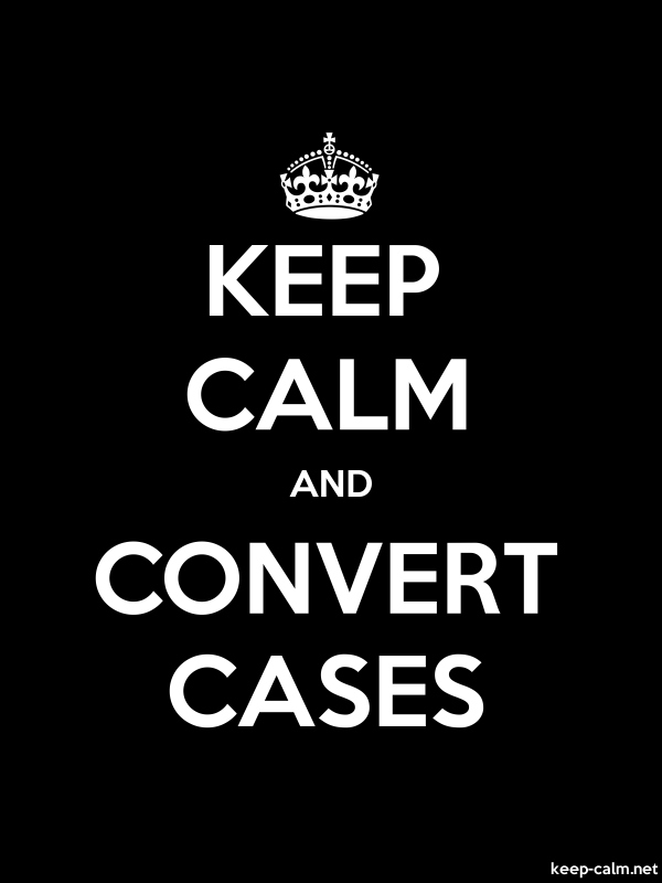 KEEP CALM AND CONVERT CASES - white/black - Default (600x800)