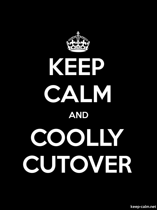 KEEP CALM AND COOLLY CUTOVER - white/black - Default (600x800)