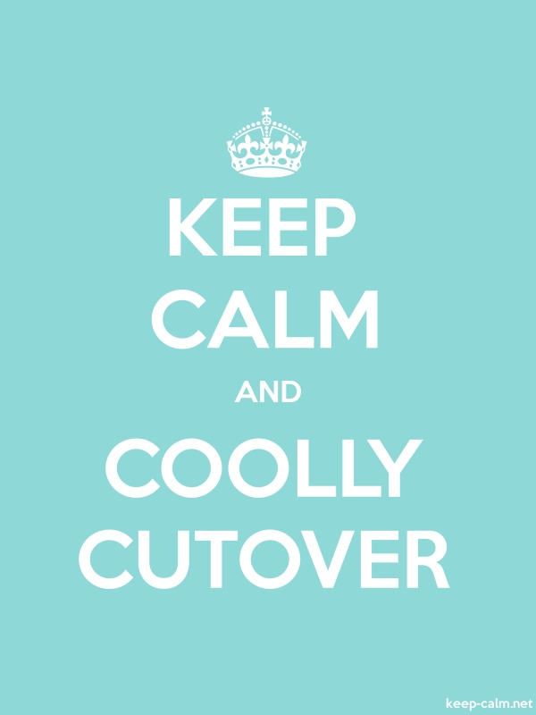 KEEP CALM AND COOLLY CUTOVER - white/lightblue - Default (600x800)