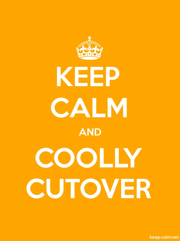 KEEP CALM AND COOLLY CUTOVER - white/orange - Default (600x800)