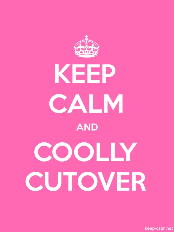 KEEP CALM AND COOLLY CUTOVER - white/pink - Default (600x800)