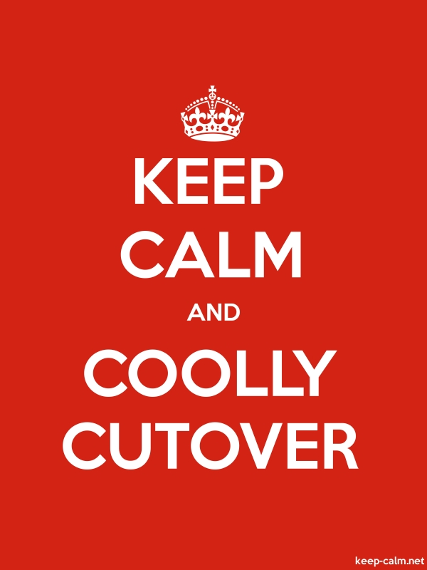 KEEP CALM AND COOLLY CUTOVER - white/red - Default (600x800)
