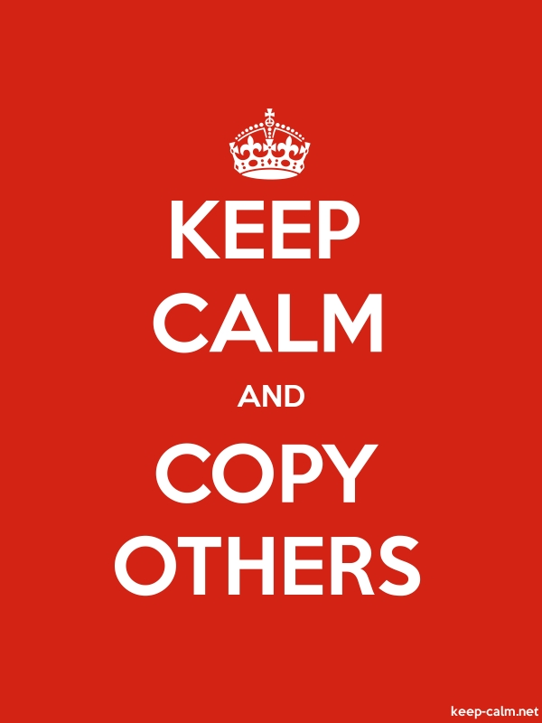 KEEP CALM AND COPY OTHERS - white/red - Default (600x800)
