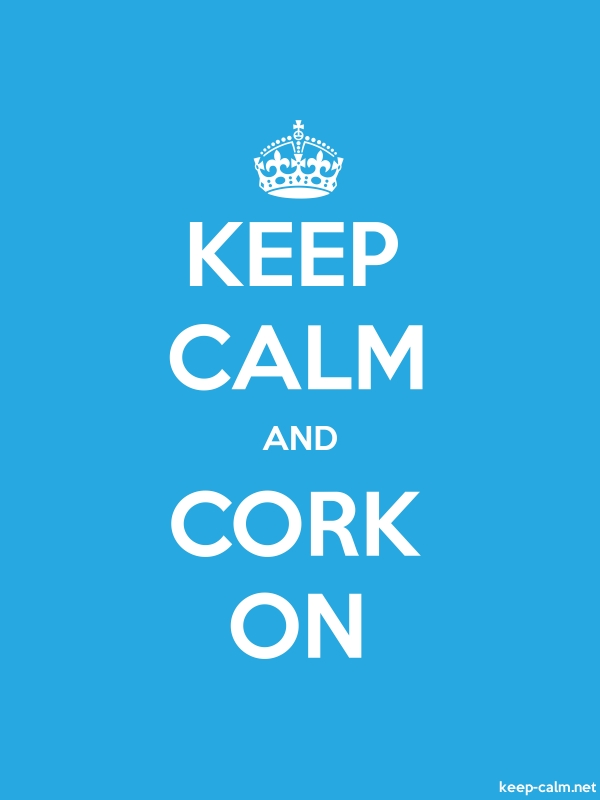 KEEP CALM AND CORK ON - white/blue - Default (600x800)