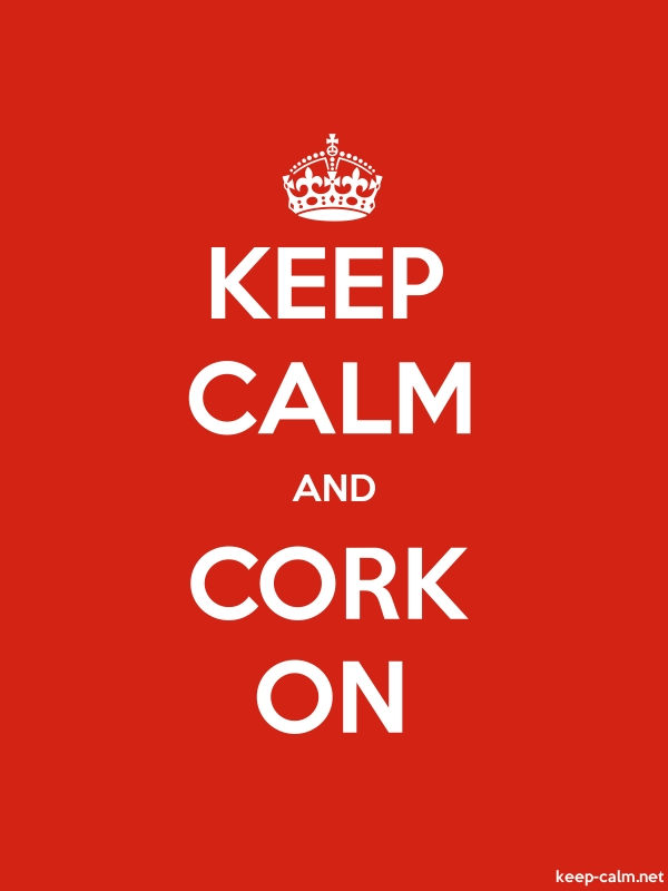 KEEP CALM AND CORK ON - white/red - Default (600x800)