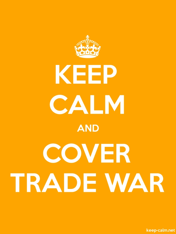 KEEP CALM AND COVER TRADE WAR - white/orange - Default (600x800)