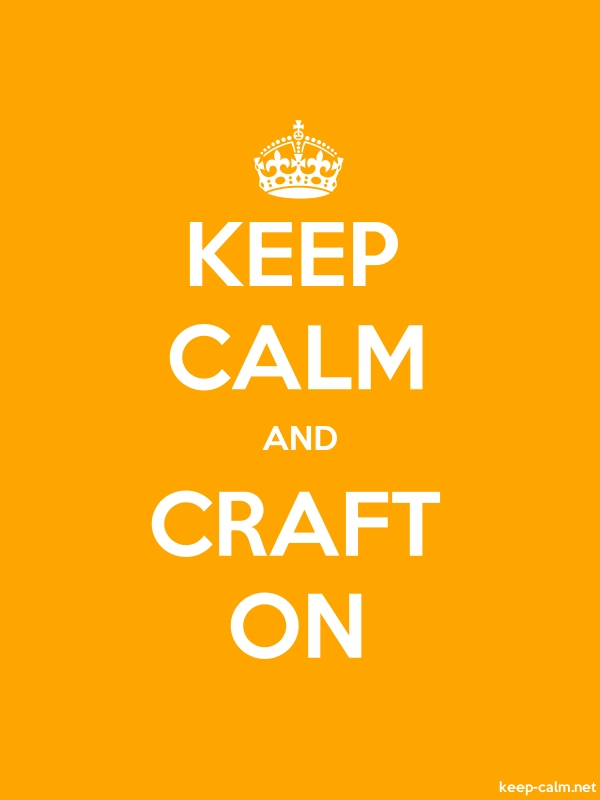 KEEP CALM AND CRAFT ON - white/orange - Default (600x800)