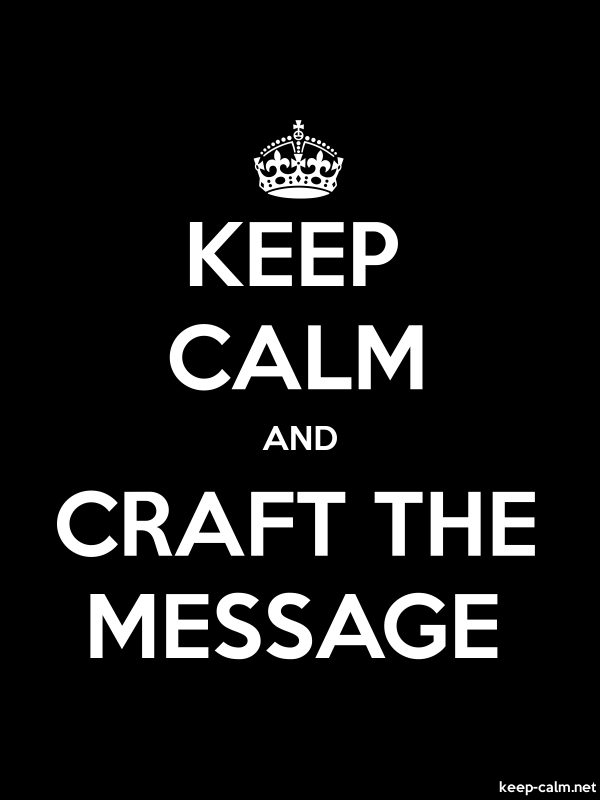 KEEP CALM AND CRAFT THE MESSAGE - white/black - Default (600x800)