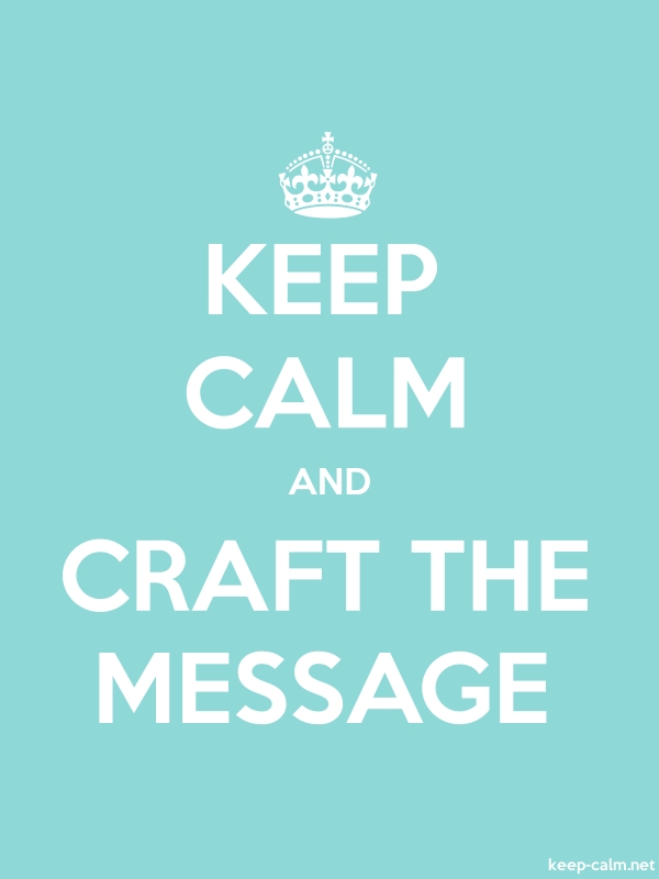 KEEP CALM AND CRAFT THE MESSAGE - white/lightblue - Default (600x800)
