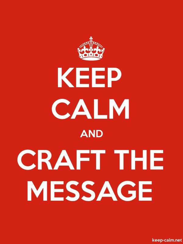 KEEP CALM AND CRAFT THE MESSAGE - white/red - Default (600x800)