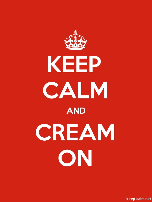 KEEP CALM AND CREAM ON - white/red - Default (600x800)