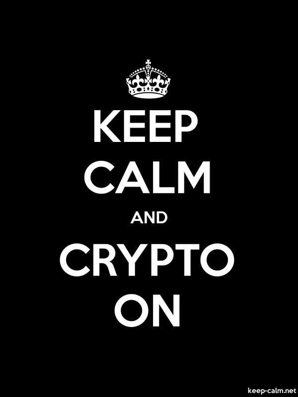 KEEP CALM AND CRYPTO ON - white/black - Default (600x800)
