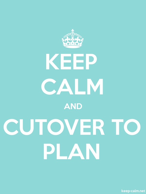 KEEP CALM AND CUTOVER TO PLAN - white/lightblue - Default (600x800)