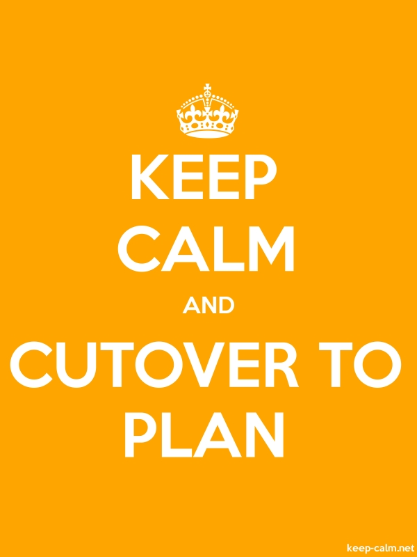 KEEP CALM AND CUTOVER TO PLAN - white/orange - Default (600x800)