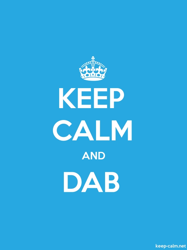 KEEP CALM AND DAB - white/blue - Default (600x800)