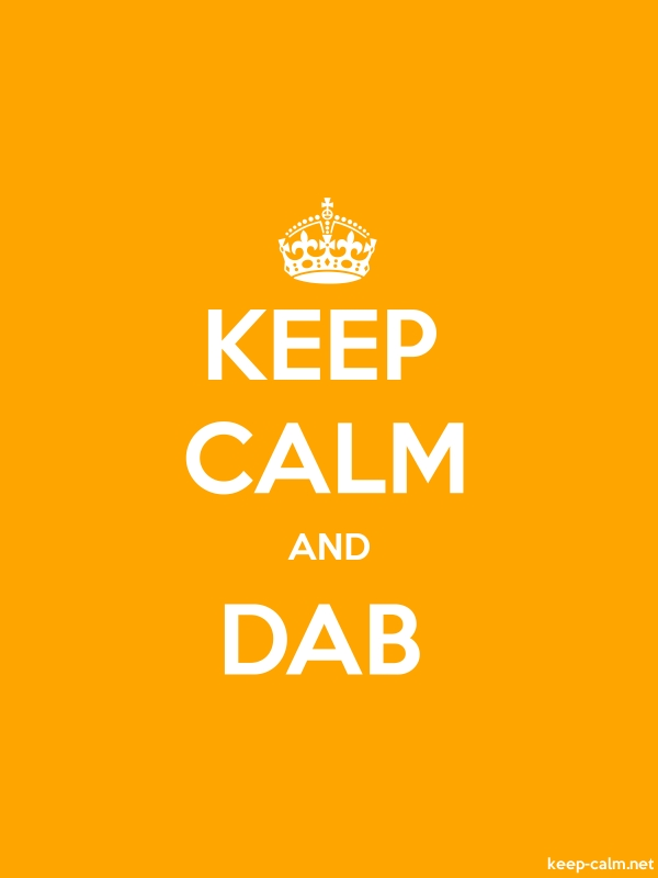 KEEP CALM AND DAB - white/orange - Default (600x800)